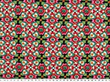 ab 1m: Baumwoll-Jersey, grafisches Muster, mint-pink, 150cm