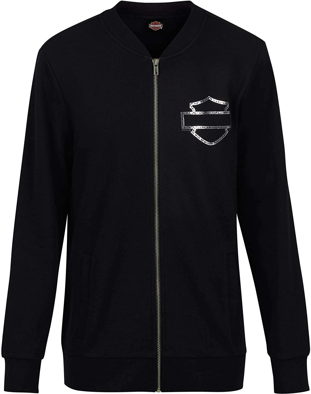 HarleyDavidson Military  Women's French Terry Bomber Jacket  Overseas Tour   Iconic Logo