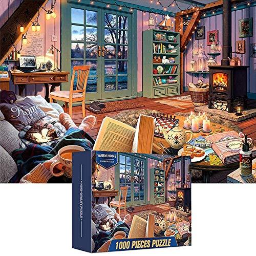 Lyeiaa Puzzle 1000 Teile, Puzzle für Erwachsene & Kinder, Puzzle Impossible