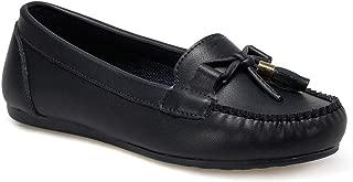 DS20053 Lacivert Kadın Loafer Ayakkabı