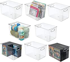 mDesign Deep Plastic Home Storage Organizer Bin for Cube Furniture Shelving in Office, Entryway, Closet, Cabinet, Bedroom,...