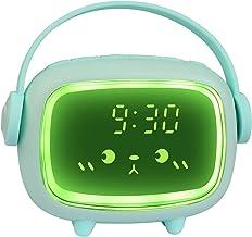 Wekker kinderen digitale lichtwekker voor meisjes jongens digitale klok engel nachtlampje LED wekker met licht bedlampje k...