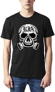 GDZZLA Men's Tshirt The Red Jumpsuit Apparatus White LogoFunny Tee Black