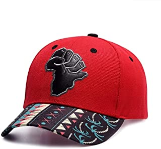 Adjustable Cotton Baseball Cap Outdoor Plain Peaked Cap Embroidery Sun Hat Casual Washed Cap B918 (Color : Red, Size : Free Size)