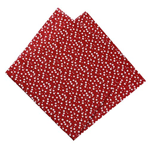 JSsvbbsd 50X50Cm 100% Algodón Floral Flores Tela De Puntos para Muñeca Patchwork Ropa Costura Costura Decoración Textil para El Hogar