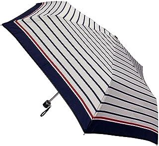 CAFEDIMLY(カフェディムリー)折りたたみ傘 風に強い耐風設計 軽量タイプ 親骨55cm スター チェック ボーダー ドット (マリンボーダー(WH))