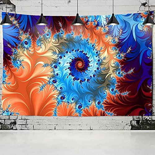 N/A Estera de Picnic al Aire Libre Tapiz Mandala psicodélico Hongo Pared Tie Dye Colorido Abstracto Hippie Tapiz Colgante de Pared Dormitorio decoración de la casa de Campo