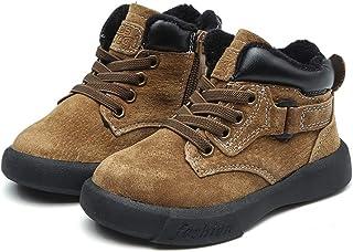 SandQ baby Boys Khaki Brown Leather Boots