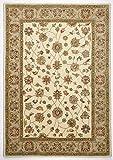 alfombra con pelo insertado diseñador de color crema variaciones de tamaño de color marrón THEKO clásico de la mano de 240 x 340 cm