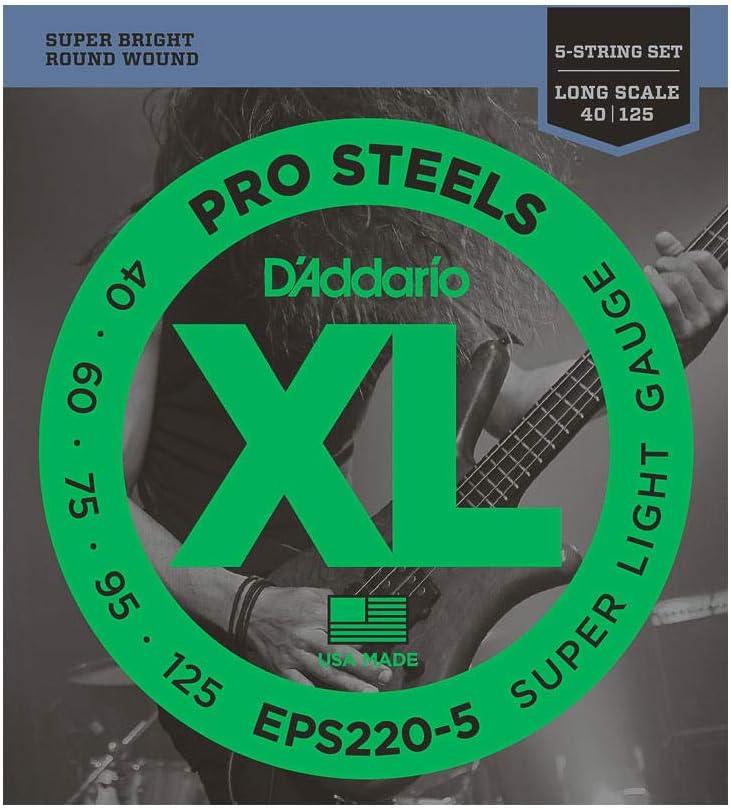 D'Addario EPS220-5 Juego de Cuerdas, Transparente