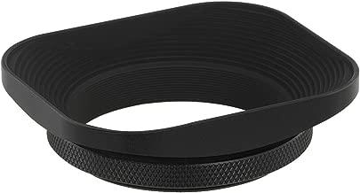 Haoge 49mm Square Metal Screw-in Mount Lens Hood for Sony RX1 RX1R RX1RII Camera, Sony E 20mm f2.8, 28mm f2, 30mm f3.5, 35mm f1.8, 50mm f1.8, TE 24mm F1.8, 55mm F1.8, TFE 35mm F2.8 Lens