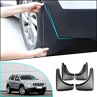 8X-SPEED for Jeep Cherokee 2014-2018 Mud Flaps Splash Guards Front & Rear 4 Piece Set Black