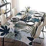 Wddwymll Rectangulares Mantel Impermeable,Estilo Simple Mantel Mesa Antimanchas,Lavable Mantel Estampado,para Mesa Cafetería