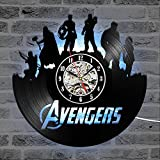 Cheemy Joint Rächer Marvel Avengers Vinyl-Wanduhr LED 12'Vinyl-Schallplatte, Home Interior...