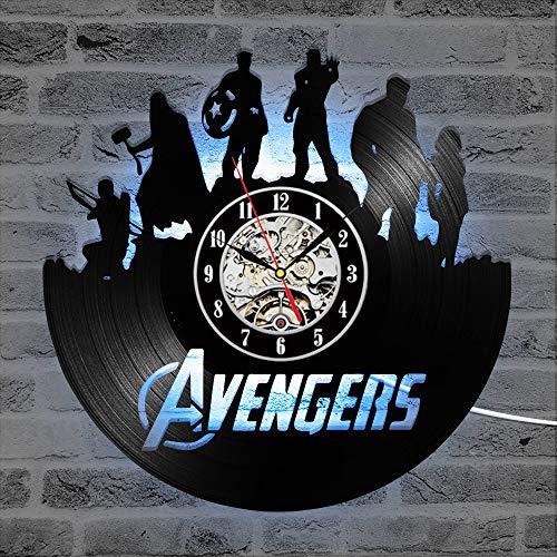 Cheemy Joint Rächer Marvel Avengers Vinyl-Wanduhr LED 12