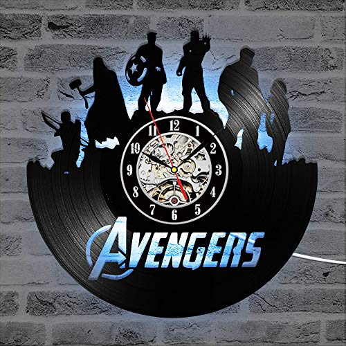 Cheemy Joint Rächer Marvel Avengers Vinyl-Wanduhr LED 12