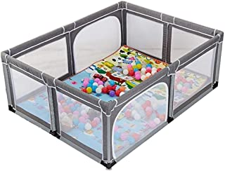 Hfyg Playpens Baby Playpen Balls Playground Breathable Waterproof Mesh for Children Play Pen pens  Color Gray