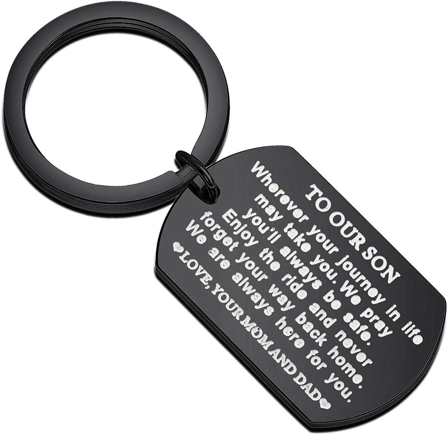 FUSTMW Inspirational Keychain Gifts to My Son Daughter Graduation Gift