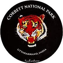Jim Corbett National Park - Tiger Face Fridge Magnet - Travel Souvenir - Gift for Your Travel Buddies (Black)
