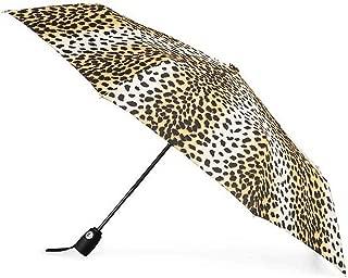 Totes Auto Open and Auto Close 采用NeverWet 技术的紧凑伞,43 英寸覆盖,Cheetah。