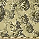 ABAKUHAUS Ananas Stoff als Meterware, Tropisches