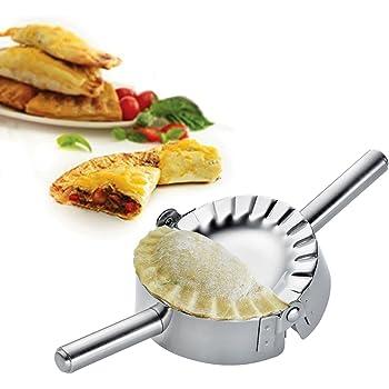 Best Utensils Stainless Steel Ravioli Mold Pierogi Dumpling Maker Wrapper Pastry Dough Cutter Kitchen Accessories (S: 3 1/4 inch)