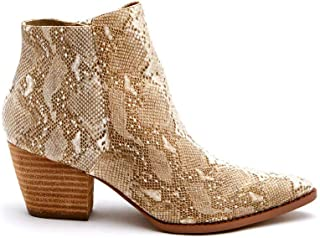 Womens Astoria Snake Animal Print Ankle Boot Bootie