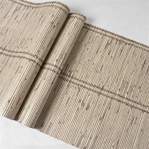 kengbi Fácil de decorar popular duradero papel pintado 3D imitación bambú textura papel pintado PVC impermeable grabado en relieve papel pintado para dormitorio sala de estar estudio pared rollos