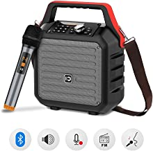 SHIDU Bluetooth Speakers with Handheld Microphone Portable PA System Karaoke Machine 30W PA Speaker Sound System with Wireless Mic Built-in USB/SD/FM Radio Function for Home, Meeting, Weeding,Party.