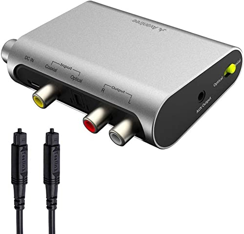 Avantree DAC Digital to Analog Audio Converter with Toslink Optical Cable, Volume Control, 192KHz, SPDIF to Stereo L/...