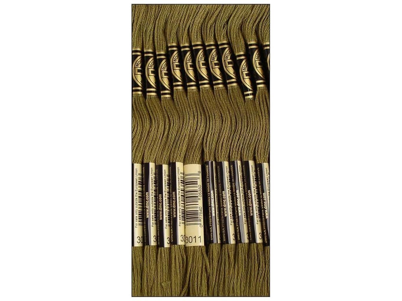 Bulk Buy: DMC Thread Six Strand Embroidery Cotton 8.7 Yards Dark Khaki Green 117-3011 (12-Pack)