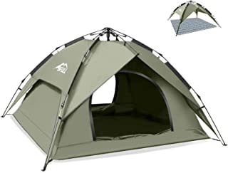BFULL Instant Pop Up Camping Tents for 2-3 Person Family, Dome Waterproof Sun Shelters Backpacking Tents Quick Set up for ...