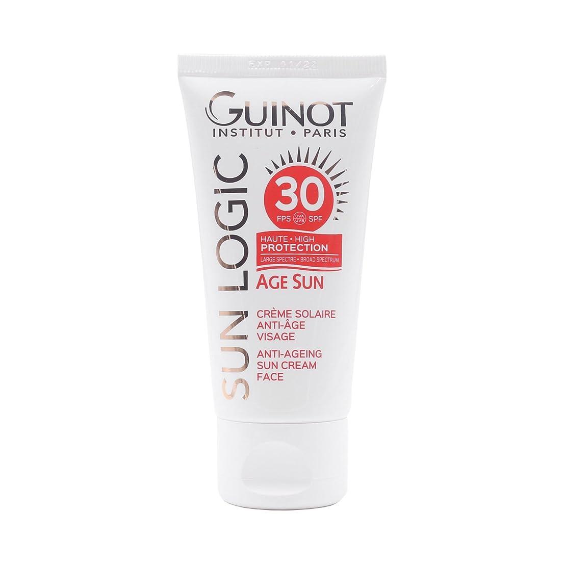 控える契約した下位ギノー Sun Logic Age Sun Anti-Ageing Sun Cream For Face SPF 30 50ml/1.7oz並行輸入品