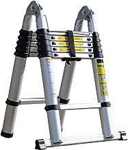 SEIKOH アルミ製 はしご 折りたたみ式 最長3.8m 耐荷重150kg 安全ロック機能付 A19A