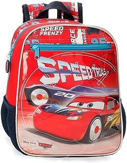Cars Speed Trails Mochila Infantil Adaptable, 28cm, Rojo