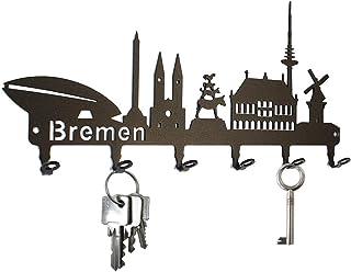 steelprint.de Schlüsselbrett/Hakenleiste * Skyline Bremen *
