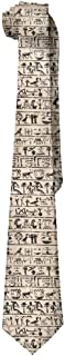 Mens Egyptian Hieroglyphs Fashion Silk Ties Personalized Gift Neckties