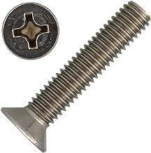 Lot de 50//à t/ête frais/ée M2/x 8/rond creux avec TX/ /T6/DIN 965/A2/en acier inoxydable