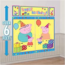 Peppa Pig WALL POSTER Decoration Kit Scene Setter Birthday Party Supplies