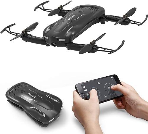AUKWING Syma Z1 Mini Faltbare Drohne mit HD Kamera, 90 ° drehbare 720P Kamera RC Quadcopter Ferngesteuerte Tasche Drohne für Anf er und Kinder