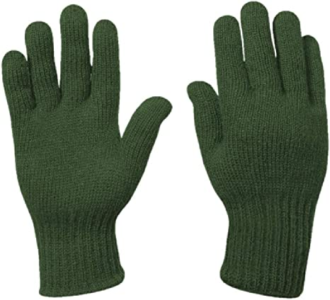 US Army Military Genuine Issue GI Men's Wool Nylon Blend Cold Weather Snow Winter Tactical Gloves