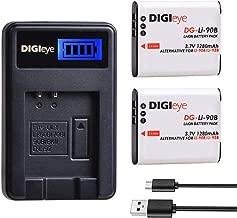 LI-90B, LI-92B (2-Pack) Batteries and Charger for Olympus Tough TG-5,TG-6, TG-Tracker, SH-1, SH-2, SP-100 IHS, Tough TG-1 iHS, Tough TG-2 iHS, Tough TG-3, Tough TG-4, SH50 iHS, SH60, XZ-2 iHS Camera