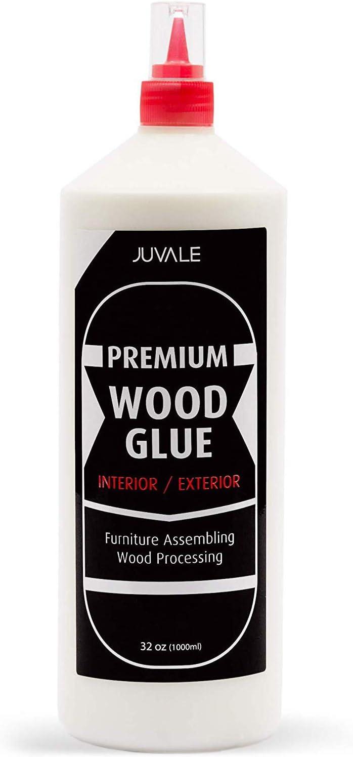 Premium Wood Glue for Furniture Repair (32 oz, White)