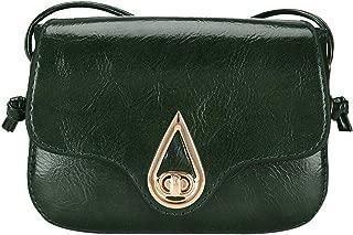 Waymine Women's Leather Shoulder Bags Zipper Crossbody Bag Pure Color Messenger Bag Phone Coin Bag