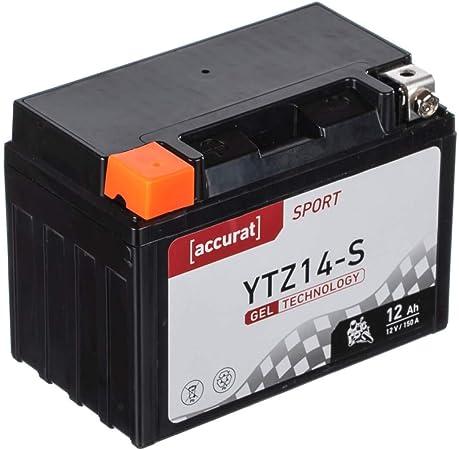 Accurat Motorradbatterie Ytx12 Bs 12ah 180a 12v Gel Technologie Starterbatterie In Erstausrüsterqualität Zyklenfest Sicher Lagerfähig Wartungsfrei Auto