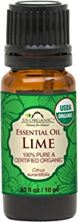 US Organic Lime Essential Oil - Certified Organic, Steam Distilled - W/Euro droppers (More Size Variations Available) (10 ...