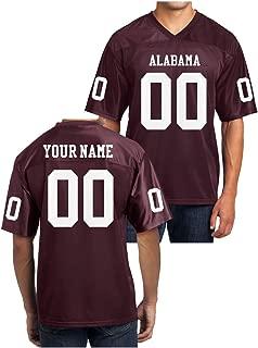 alabama crimson tide custom football jersey crimson