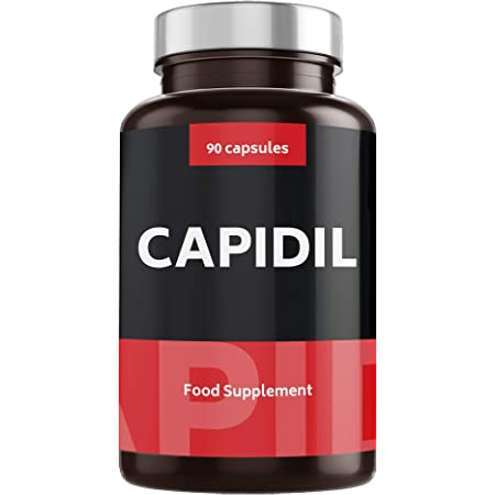 VITAMINAS ANTICAÍDA PARA EL CABELLO con Potentes Resultados - Vitaminas para Crecimiento con Fórmula Fortificante para Pelo - Alta Dosis de Biotina, Zinc y Cobre - 90 Cápsulas   CAPIDIL