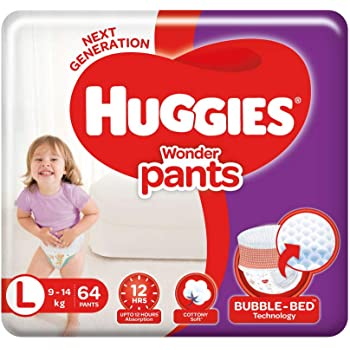 Huggies Wonder Pants, Large Size Diapers, 64 Count