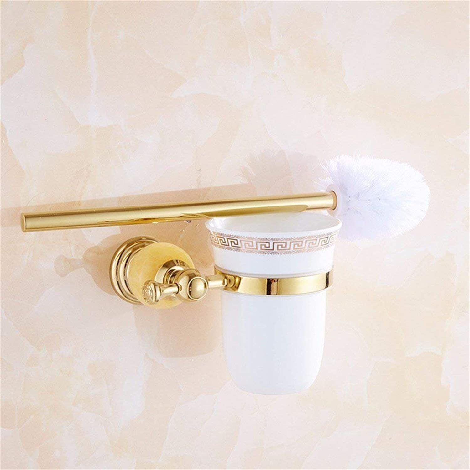 In Stainless Steel European Style Jade gold Christmas, Equipment of Door Room-soap Toilet Brush Toilet Brush Mounted in a Rack